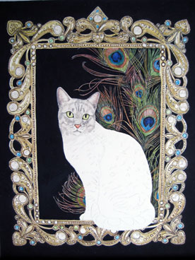 Egyptian Mau painting almost ready