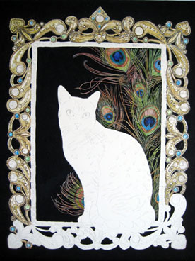 Egyptian Mau cat in a portrait