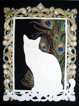 Egyptian Mau cat in a portrait