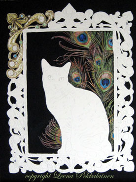 Egyptian Mau portrait painting