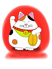 japanese good luck cat