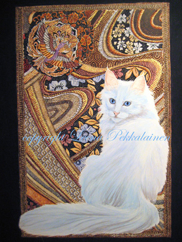 Turkish Angora cat portrai