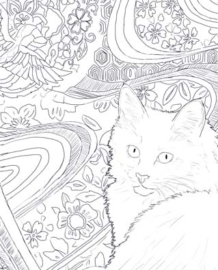 turkish angora drawing