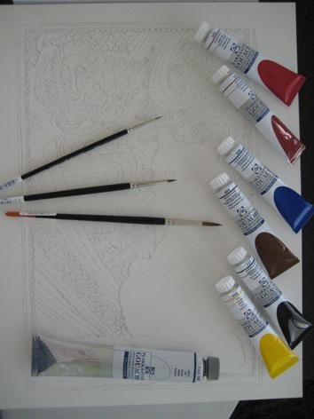 gouache paints