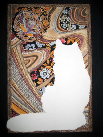 Turkish Angora painting background forming