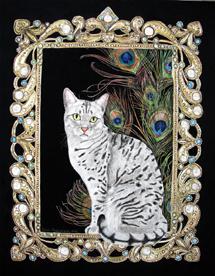 Fine cat art Egyptian Mau