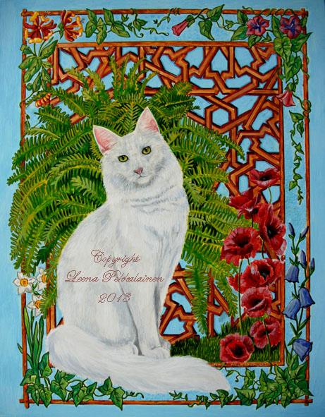 Portrait of a cat - Snowi