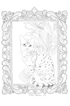 Egyptian Mau drawing