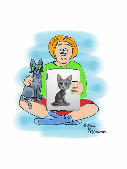 cartoon cat, korat cat breed