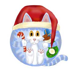 Bauble Christmas Cat